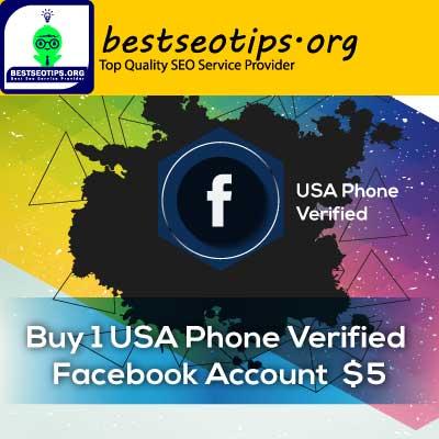 Buy 1 USA Phone Verified Facebook Account